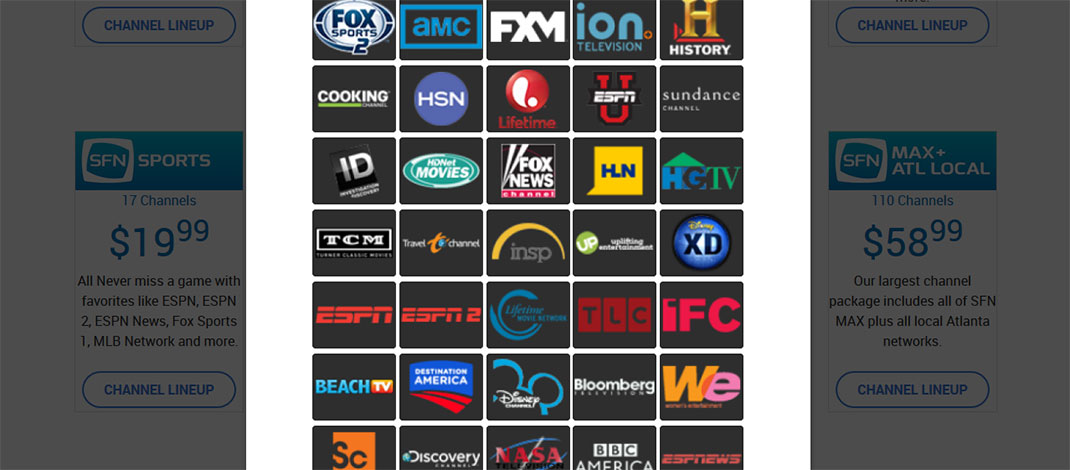 tv now. paid channels tv now s