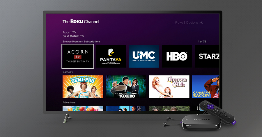 Acorn TV, PANTAYA, UMC Come To Roku Channel Premium